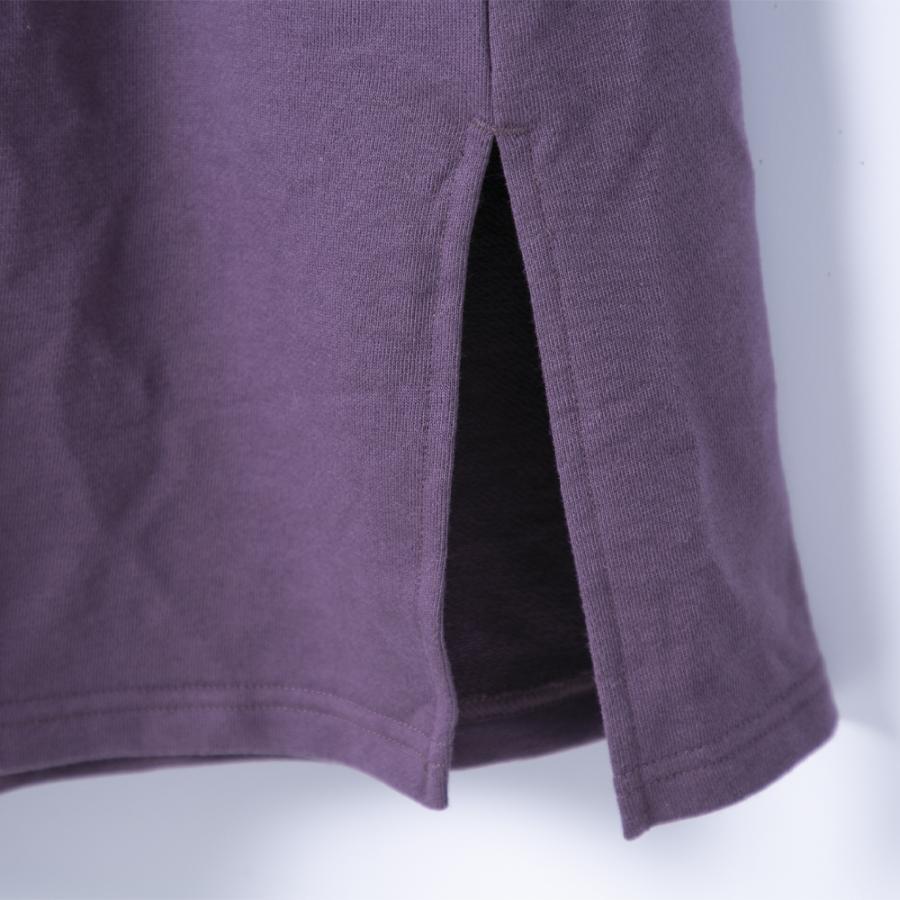 Tシャツ ワンピース 秋 春 部屋着 楽ちん BIGSIZE ビッグサイズ パーカー 大きめシルエット ゆったりシルエット シンプル トレーナー 長袖Tシャツ 綿混 hangaa 09