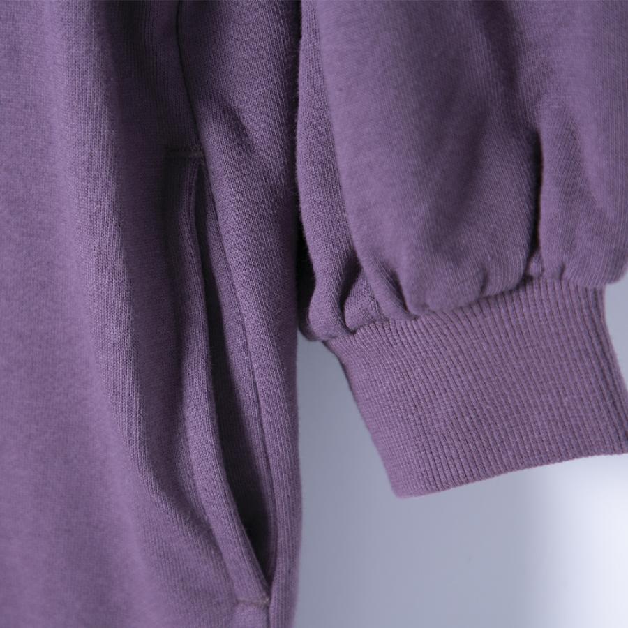 Tシャツ ワンピース 秋 春 部屋着 楽ちん BIGSIZE ビッグサイズ パーカー 大きめシルエット ゆったりシルエット シンプル トレーナー 長袖Tシャツ 綿混 hangaa 10