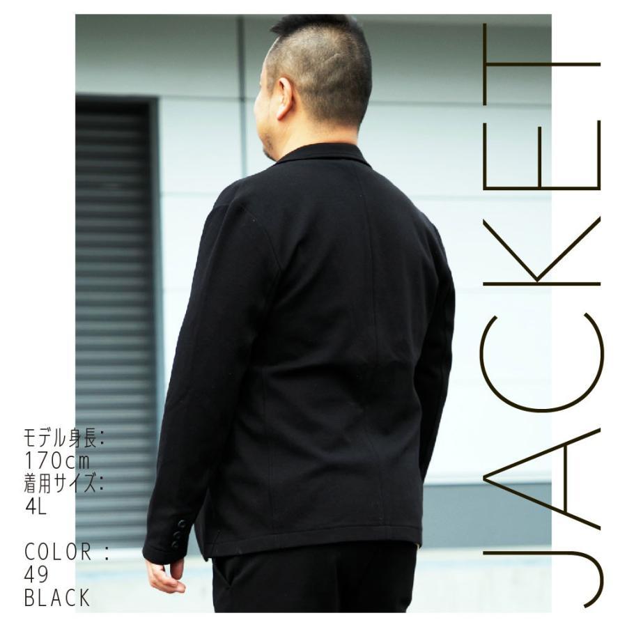 ジャケット メンズ 大きいサイズ 長袖 テーラード|hangaa|03