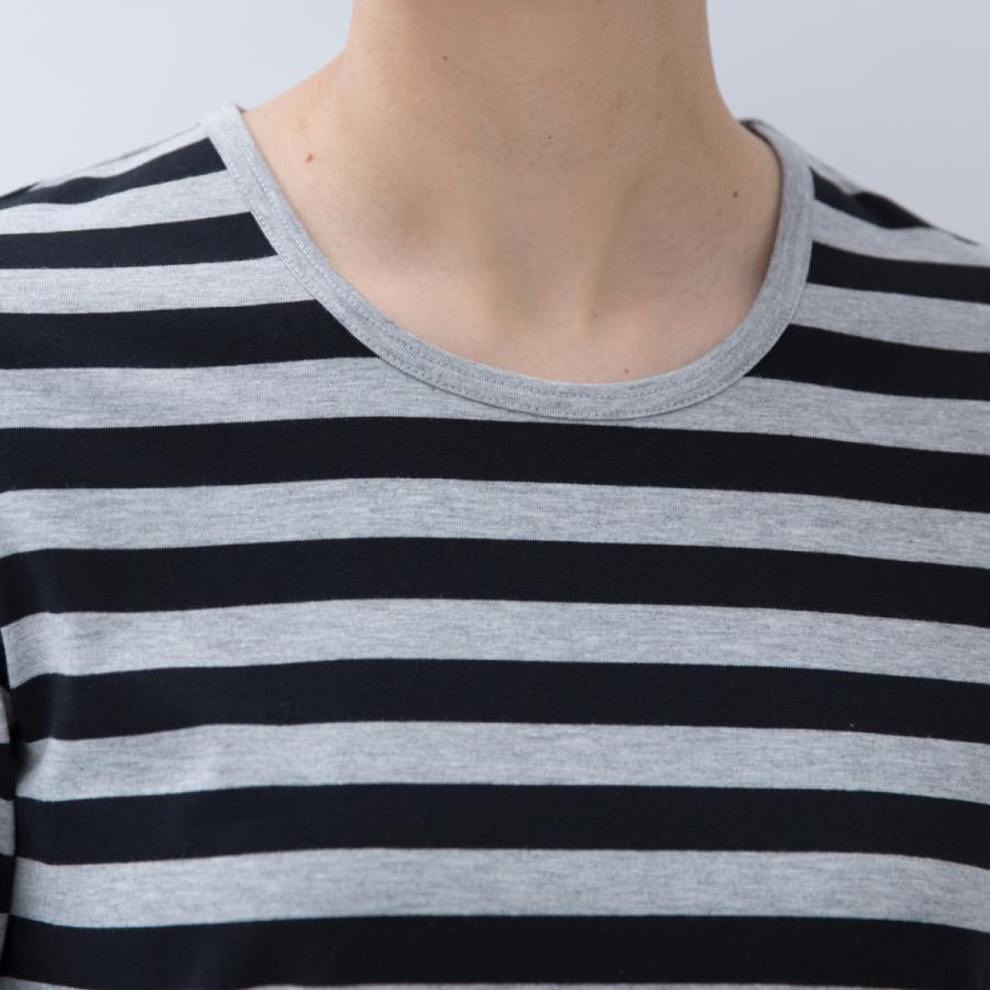 Tシャツ カットソー シンプル ボーダー シャツ 長袖 レディース 大きいサイズ S M L LL 3L 4L ecorogyfirst エコロジー ファースト|hangaa|04