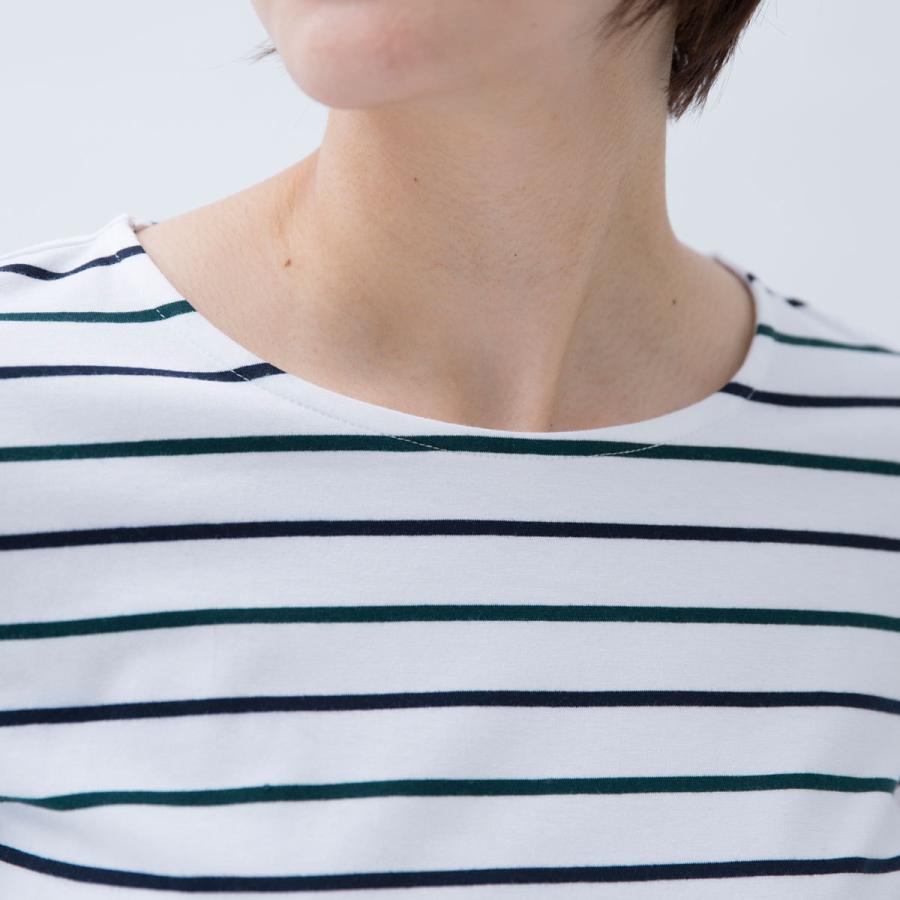 Tシャツ カットソー シンプル ボーダー シャツ 天竺 七分袖 レディース S M L LL ecorogyfirst エコロジー ファースト hangaa 05