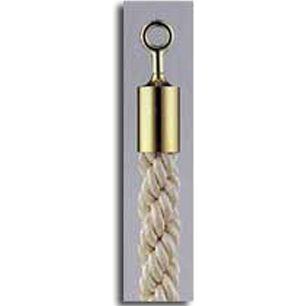カラーロープ カラーロープ Bタイプ Φ30mm フック:ゴールド ロープ:ホワイト