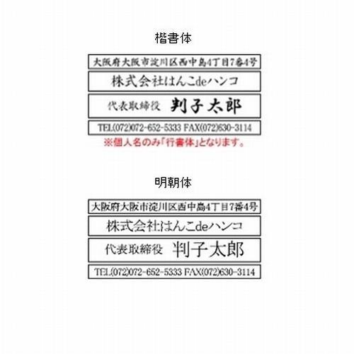 ゴム印 親子判・アドレス印 1段 住所印 セパレート hankodehanko 02