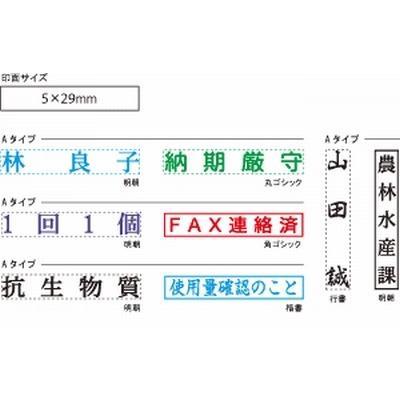 スタンプ・浸透印 シャチハタX Stamper 氏名印 (5×29mm) hankodehanko 02
