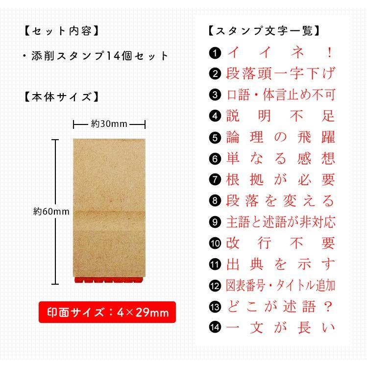 レポート・卒業論文向け添削スタンプ「文章ゼミ」 hankos 03