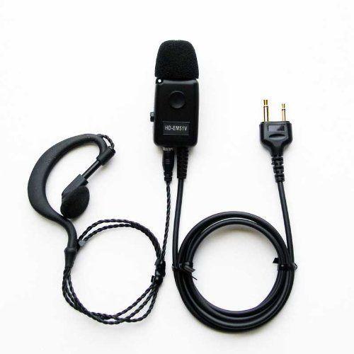 イヤホンマイク クリップマイクロホン HD-EM51V I アイコム アルインコ 商品追加値下げ在庫復活 低価格化 2Pストレート専用