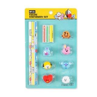 送料無料 速達 BTS 防弾少年団 BT21 マーケット 鉛筆amp;キャップセット NEW売り切れる前に☆ グッズ 公式
