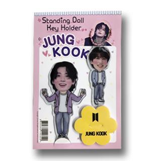 送料無料 40%OFFの激安セール 速達 JUNG KOOK ジョングク 防弾少年団 BTS スタンディングドール キーホルダー マスコット Key Holder Doll グッ Standing + 購入