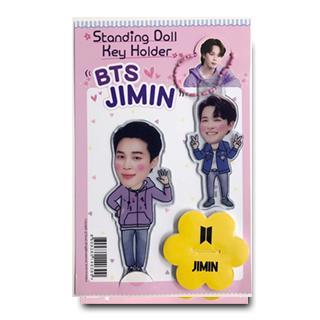 送料無料 速達 倉 JIMIN ジミン 防弾少年団 BTS スタンディングドール + Holder マスコット Doll Key 新作 人気 キーホルダー グッズ Standing