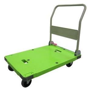 【送料無料】ナンシン 静音台車 サイレントマスター【DSK-301GB2】グリーン(ハンドル折りたたみ式 プッシュブレーキ付 最大積載荷重300kg 緑色)