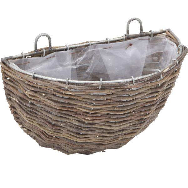 植木鉢・プランター/G-story ラタン ウォール ハンギングバスケットSサイズ/ハンギングプランター/|hanwa-ex
