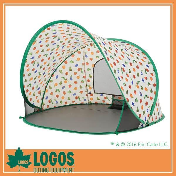 LOGOS ロゴス はらぺこあおむし ポップアップシェード/コンパクトシェード テント 日よけ キャンプ バーベキュ