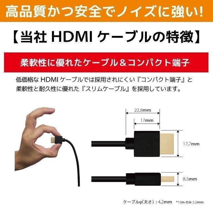 HDMIケーブル 2m 1m Ver.2.0b フルハイビジョン HDMI ケーブル 4K 8K 3D 対応 2.0m 1.0m 200cm 100cm HDMI20 AV PC 細線 ハイスピード 送料無料 メール便 「メ」|hanwha|11