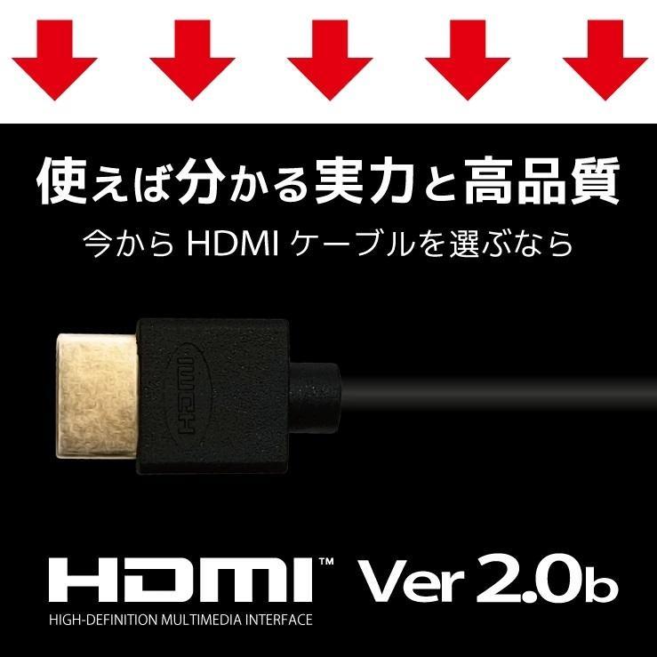 HDMIケーブル 2m 1m Ver.2.0b フルハイビジョン HDMI ケーブル 4K 8K 3D 対応 2.0m 1.0m 200cm 100cm HDMI20 AV PC 細線 ハイスピード 送料無料 メール便 「メ」|hanwha|03
