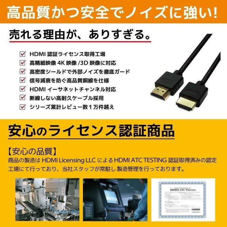 HDMIケーブル 2m 1m Ver.2.0b フルハイビジョン HDMI ケーブル 4K 8K 3D 対応 2.0m 1.0m 200cm 100cm HDMI20 AV PC 細線 ハイスピード 送料無料 メール便 「メ」|hanwha|06