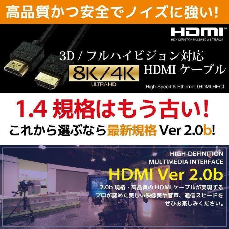 HDMIケーブル 2m 1m Ver.2.0b フルハイビジョン HDMI ケーブル 4K 8K 3D 対応 2.0m 1.0m 200cm 100cm HDMI20 AV PC 細線 ハイスピード 送料無料 メール便 「メ」|hanwha|07