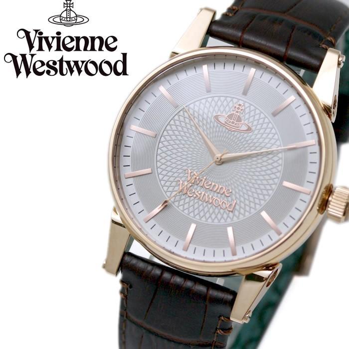【美品】 ヴィヴィアンウエストウッド VivienneWestwood 腕時計 メンズ VV065RSBR シルバー×ローズゴールドケース×ブラウン レザー, フィッシングみちばた bc9a9f45