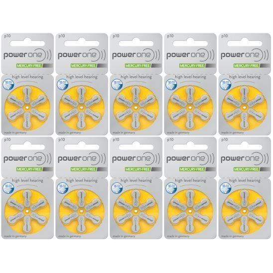 長い歴史を持つドイツ製パワーワン power one補聴器用空気電池PR536(10) 10パック(60粒) haplaza
