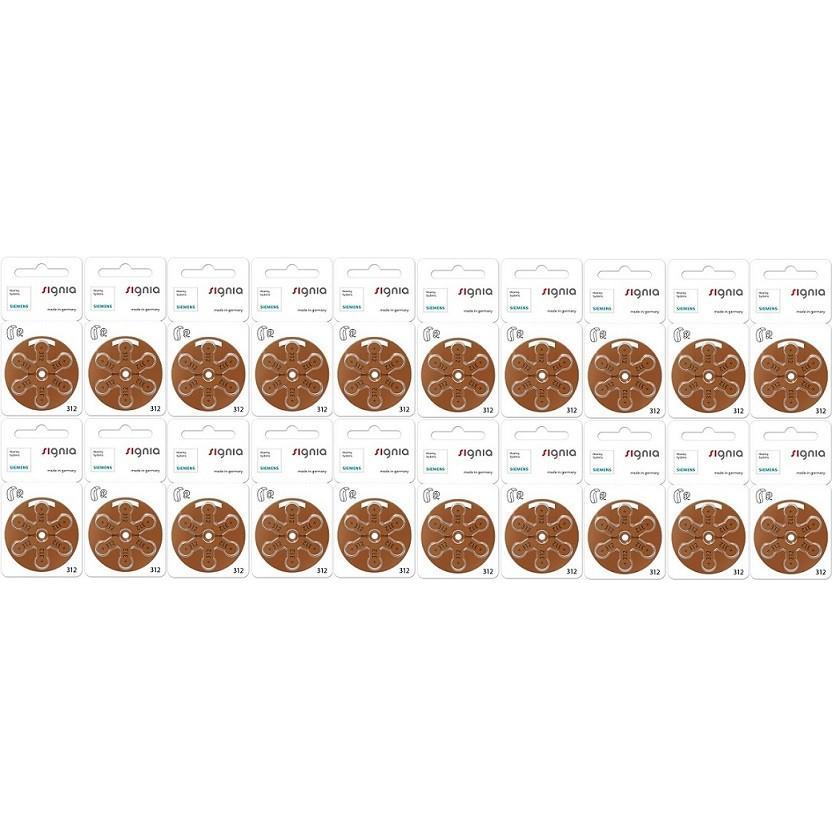 シーメンス・シグニア siemens/signia 補聴器空気電池PR41(312) 20パック(120粒)|haplaza