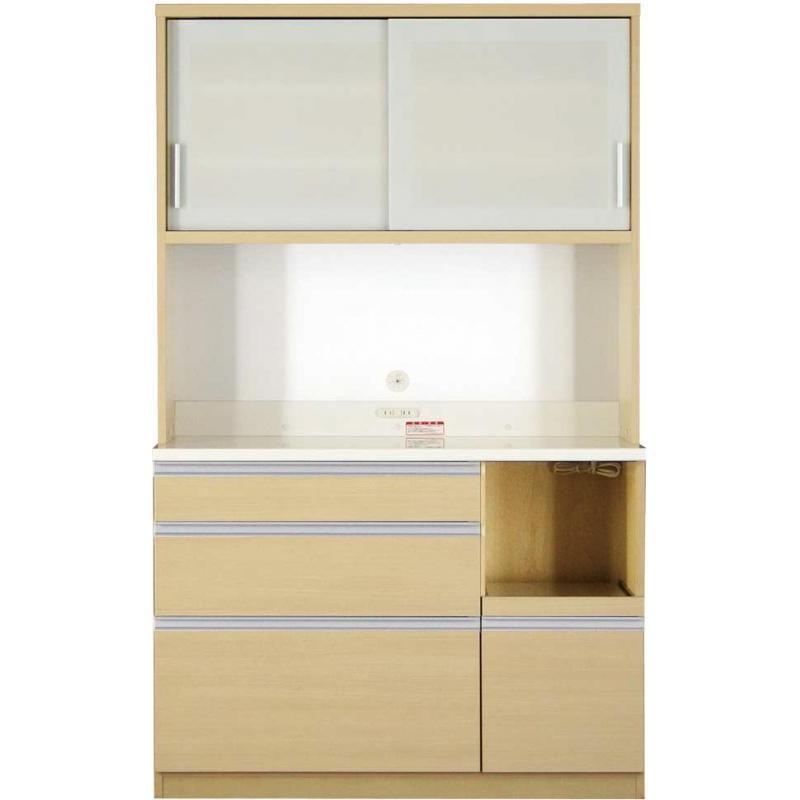 大型レンジ対応 清潔感のある印象が特徴のキッチンボード キッチンボード 開梱設置付 120cm 193cm 51cm