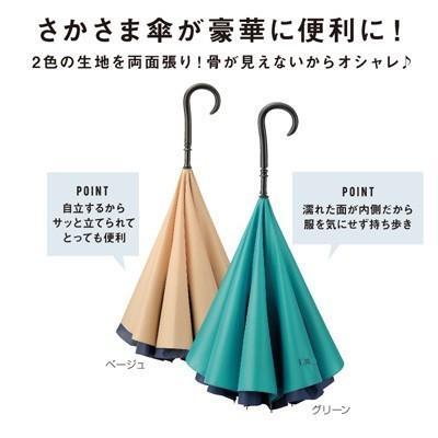 逆さま傘 さかさま傘 ギフト 粗品 記念品 景品 プレゼント ノベルティ happinesnet-stora