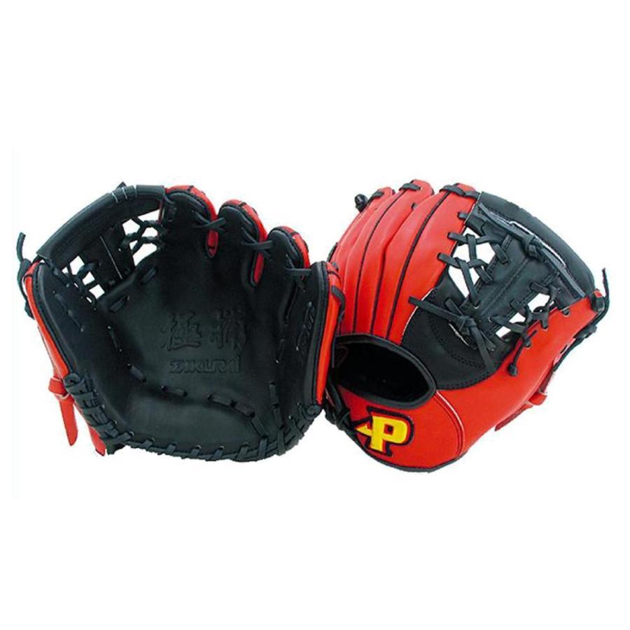Promark プロマーク 野球グラブ グローブ 硬式・軟式兼用 トレーニンググラブ ブラック×レッドオレンジ TG-1012