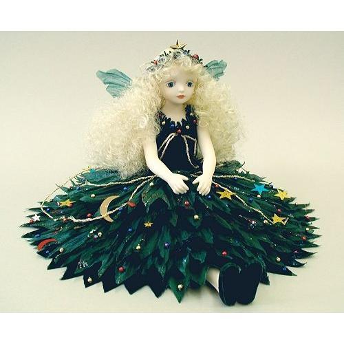 若月まり子 お花の妖精人形♪エルフィンフローリー:ファンタジー・クリスマスツリービスクドール 妖精 フラワーフェアリー 陶器 お人形 ギフト お祝