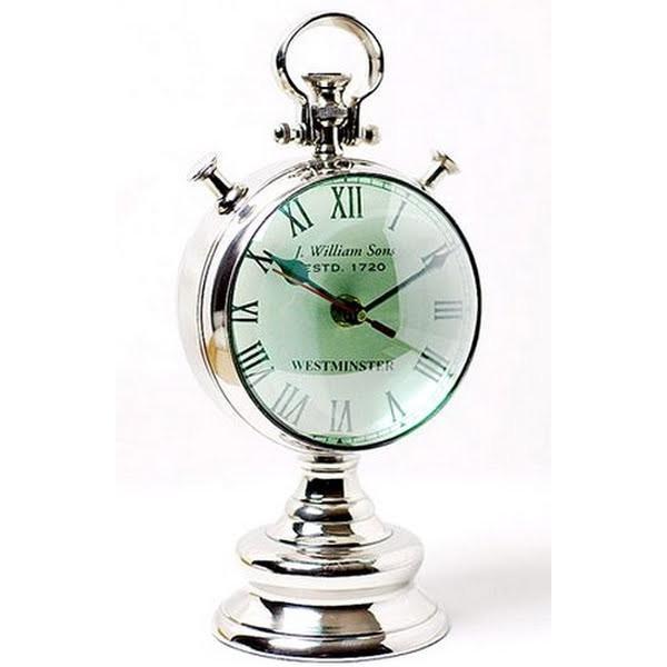 シルバークロック:魚眼レンズ風置時計時計 壁掛け シルバー 新築祝い 引越祝い 記念品 通販 おしゃれ シンプル