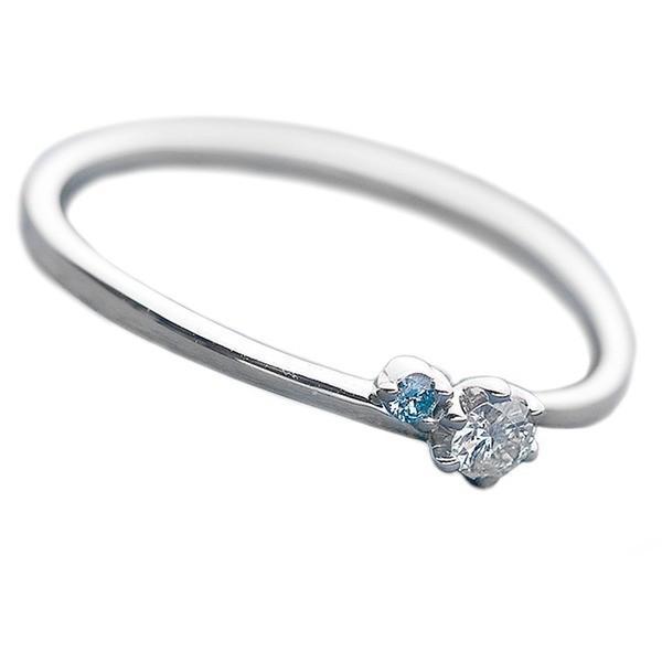 品質一番の ダイヤモンド リング ダイヤ&アイスブルーダイヤ 合計0.06ct 11号 プラチナ Pt950 指輪 ダイヤリング 鑑別カード付き, キッチンワールドTDI d058f147