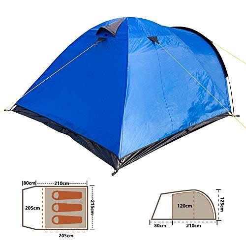 キャンプテント 3-4人 二重層 ドームテント 前室あり (21080)x215x125cm 防水PU2000/5000アウトドア 登山/ツーリング/ピ happy-square 02