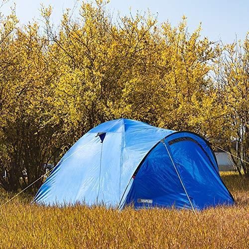 キャンプテント 3-4人 二重層 ドームテント 前室あり (21080)x215x125cm 防水PU2000/5000アウトドア 登山/ツーリング/ピ happy-square 07
