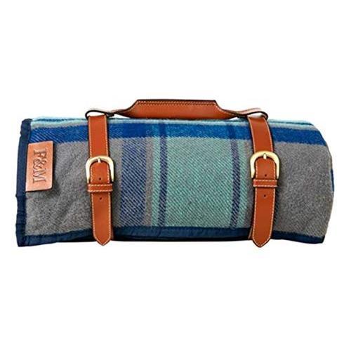 英国 Fortnum & Mason [フォートナム&メイソン] ウール混 ピクニックラグ 持ち運びに便利なハンドル付き レジャー