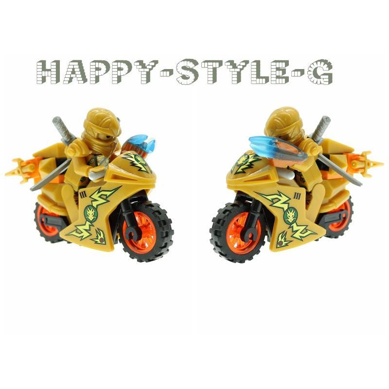 ブロック互換 レゴ 互換品 レゴブロック レゴミニフィグ ニンジャゴー 忍者とバイク各8台 クリスマス プレゼント|happy-style-g|02