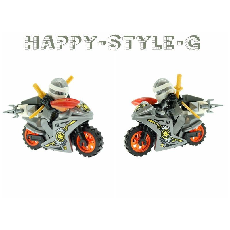 ブロック互換 レゴ 互換品 レゴブロック レゴミニフィグ ニンジャゴー 忍者とバイク各8台 クリスマス プレゼント|happy-style-g|03