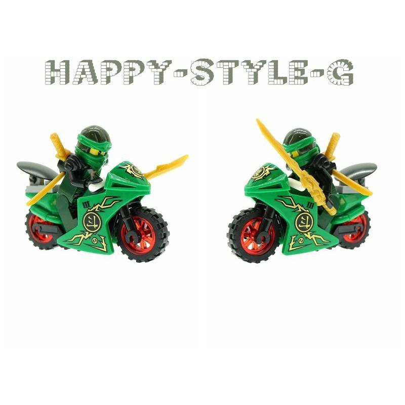 ブロック互換 レゴ 互換品 レゴブロック レゴミニフィグ ニンジャゴー 忍者とバイク各8台 クリスマス プレゼント|happy-style-g|04