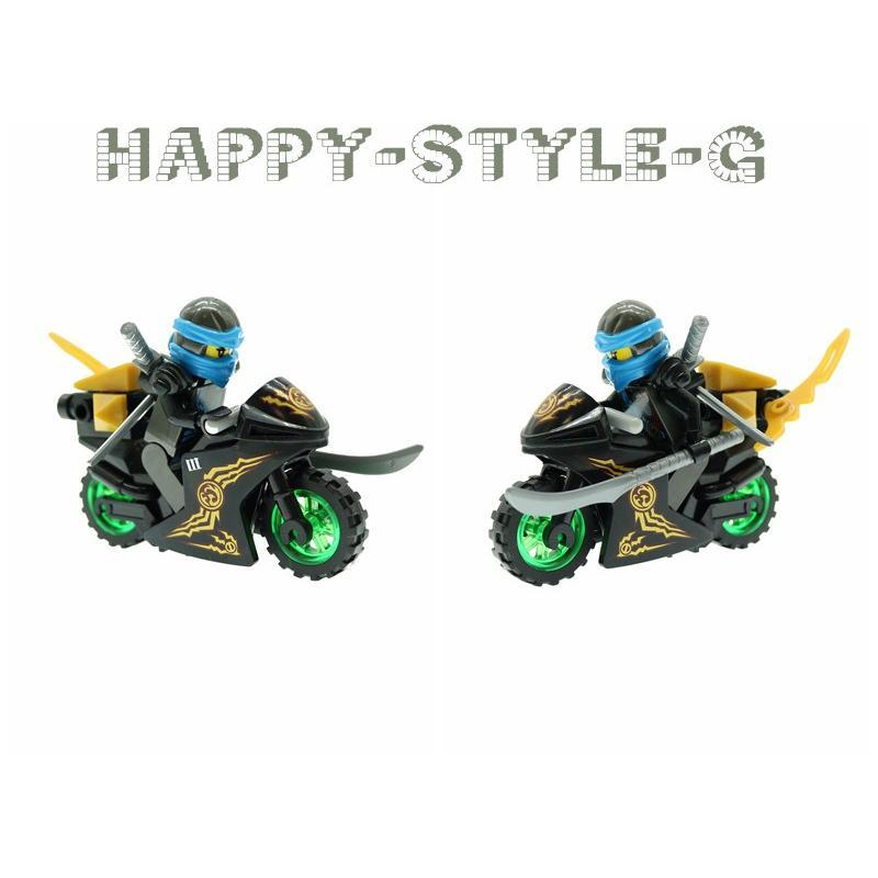 ブロック互換 レゴ 互換品 レゴブロック レゴミニフィグ ニンジャゴー 忍者とバイク各8台 クリスマス プレゼント|happy-style-g|05