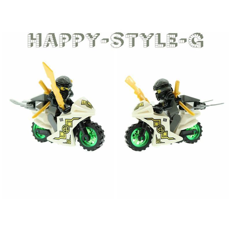 ブロック互換 レゴ 互換品 レゴブロック レゴミニフィグ ニンジャゴー 忍者とバイク各8台 クリスマス プレゼント|happy-style-g|06
