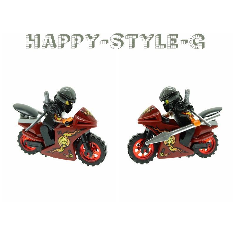 ブロック互換 レゴ 互換品 レゴブロック レゴミニフィグ ニンジャゴー 忍者とバイク各8台 クリスマス プレゼント|happy-style-g|07