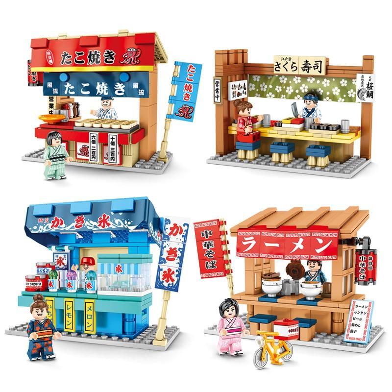 超特価 ブロック互換 本日限定 レゴ 互換品 レゴたこ焼き屋台他4個セット レゴブロック クリスマス LEGO プレゼント