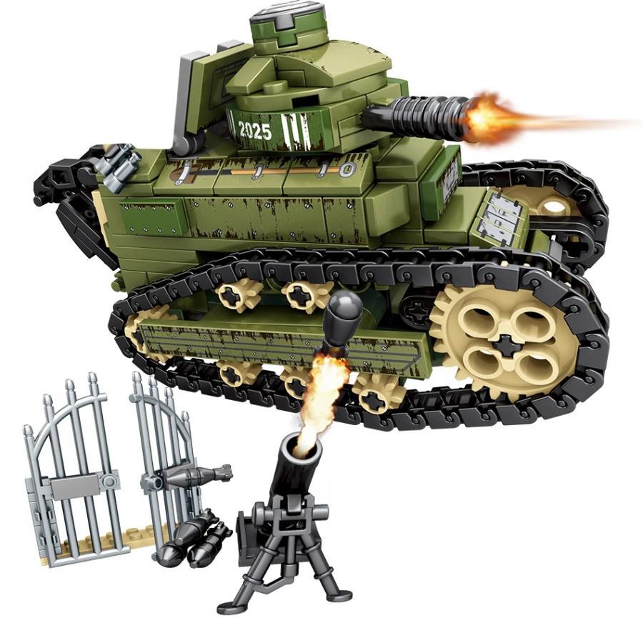 モデル着用 爆買い新作 注目アイテム ブロック互換 レゴ 互換品 レゴミリタリーフランス戦車 プレゼント 互換品クリスマス ルノーFT戦車