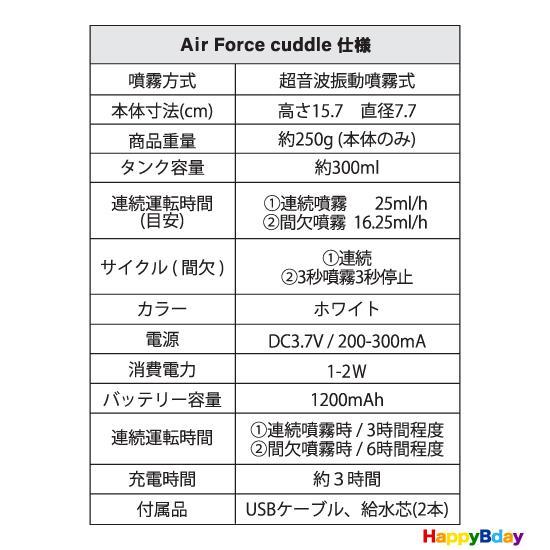 空気清浄機 コロナウイルス対策 感染予防 除菌 消臭 ポータブル小型噴霧器 エアフォースカドル 専用水 5パウチセット happybday 12