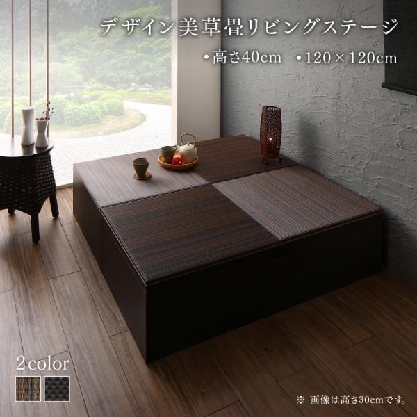 畳ボックス収納 120×120cm ハイタイプ 国産 収納付き美草畳