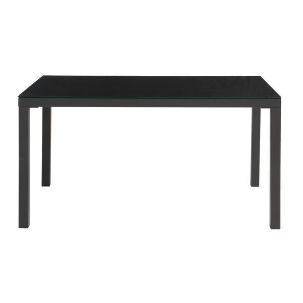 【直送】あずま工芸 TOCOM interior(トコムインテリア) ダイニングテーブル ダイニングテーブル 強化ガラス天板 135×80cm〔2梱包〕 ブラック GDT-7639〔代引不可〕