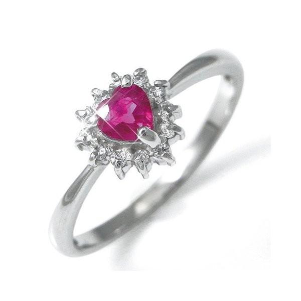 【通販 人気】 Pt100ハートルビー&ダイヤリング 指輪パヴェリング 17号, ビーハート b67e2e69