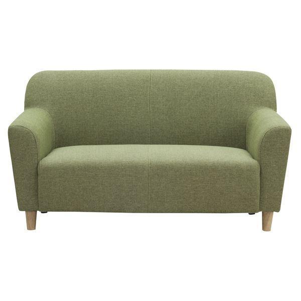 【直送】ソファー 2人掛け 肘付き 肘付き 〔エルフ〕 コンパクトサイズ 東谷 SS-111GR グリーン(緑)〔代引不可〕