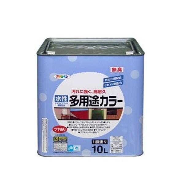 【直送】水性多用途カラー 黒 10L〔代引不可〕