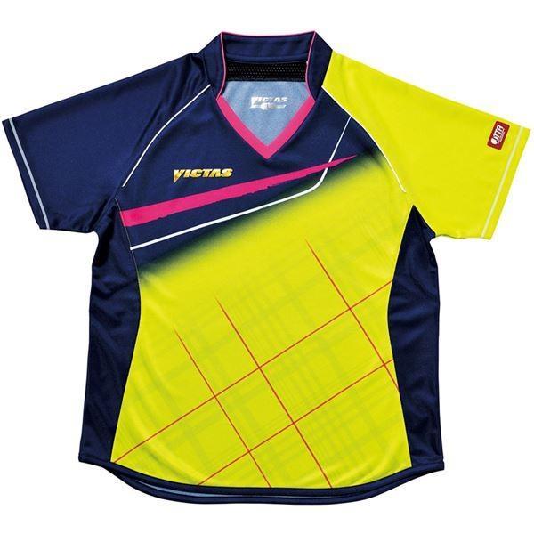 【直送】ヤマト卓球 VICTAS(ヴィクタス) 卓球アパレル V-LS037 Viscotecs ゲームシャツ(女子用) 031460 ライム Oサイズ