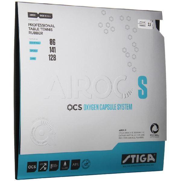 【直送】STIGA(スティガ) テンション系裏ソフトラバー AIROC S(エアロック S)ブラック 厚