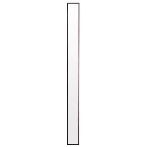 【直送】超スリム トールミラーDX/ウォールミラー 〔ダークブラウン〕 幅13cm 日本製〔代引不可〕