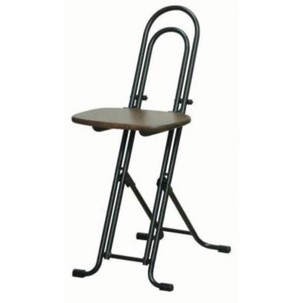 【直送】シンプル 折りたたみ椅子 折りたたみ椅子 折りたたみ椅子 〔ダークブラウン×ブラック 幅330mm〕 日本製 スチールパイプ 『ベストホビーチェア』〔代引不可〕 b37